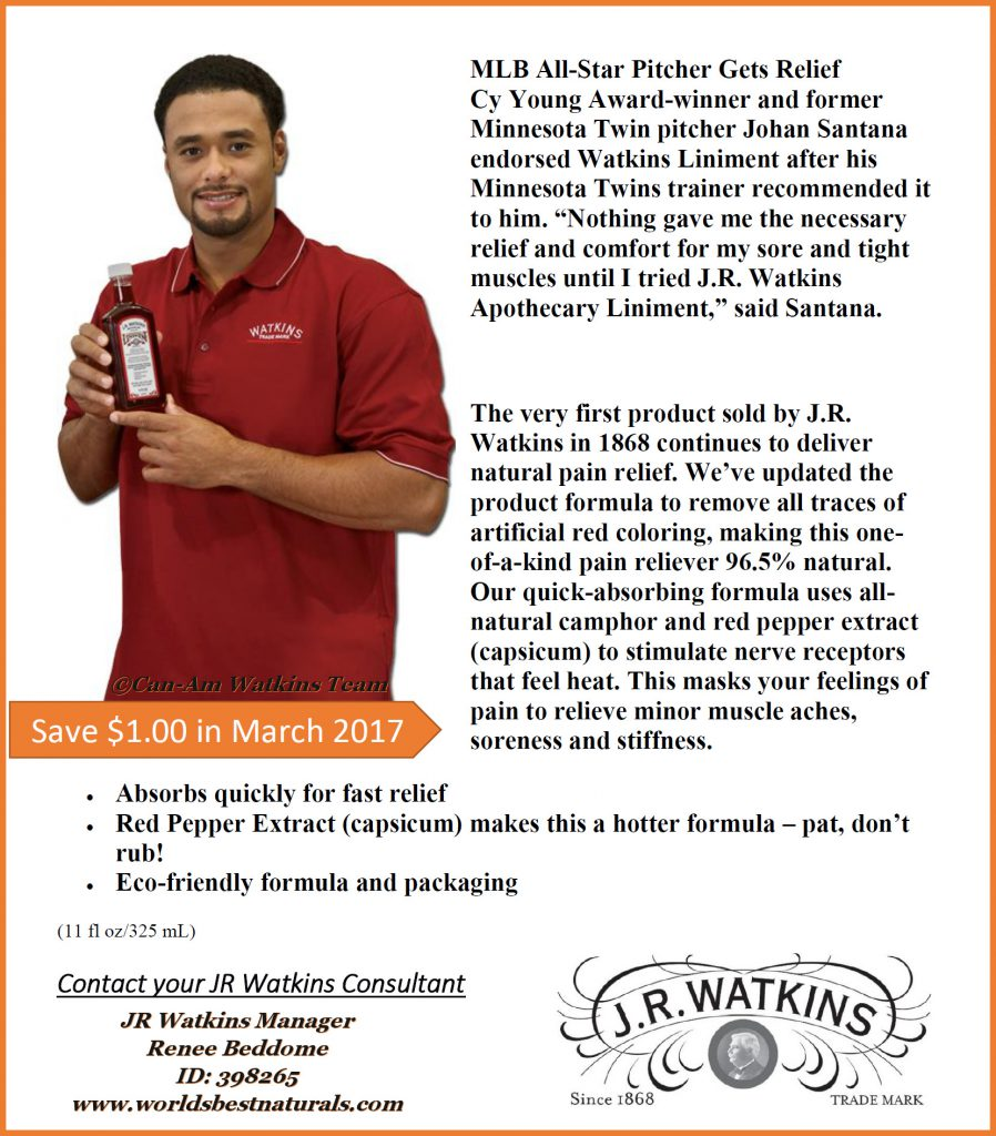 MLB All-Star Pitcher Gets Relief from Watkins Red Liniment!